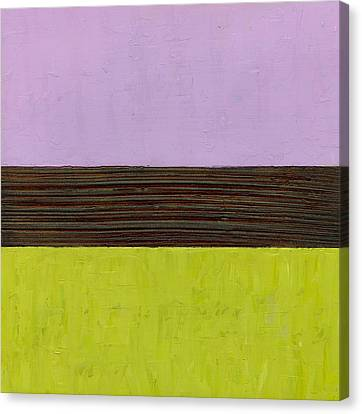 Lavender Brown Olive Canvas Print by Michelle Calkins