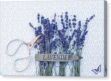 Canvas Print featuring the photograph Lavender Garden by Rebecca Cozart