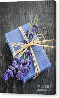 Lavender Handmade Soap Canvas Print by Elena Elisseeva