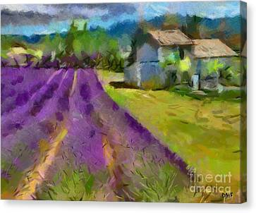 Lavender In Provance Canvas Print by Dragica  Micki Fortuna