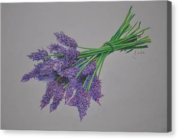 Canvas Print featuring the pastel Lavender by Linda Ferreira