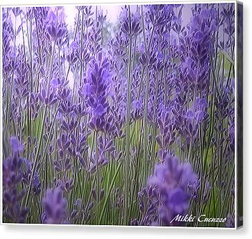 Lavender Canvas Print by Mikki Cucuzzo