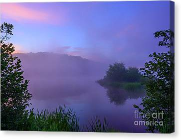 Lavender Mist Summer Morning  Canvas Print