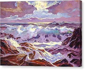 Lavender Ocean Canvas Print by David Lloyd Glover