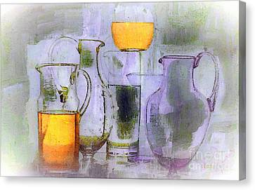 Lavender Orange Glass Canvas Print