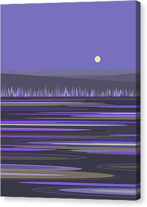 Canvas Print featuring the digital art Lavender Reflections by Val Arie