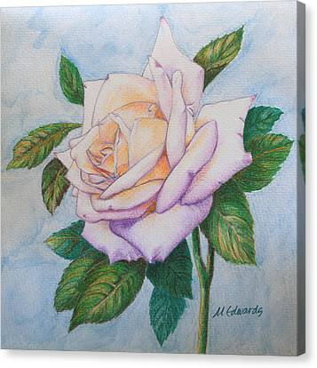 Lavender Rose Canvas Print by Marna Edwards Flavell