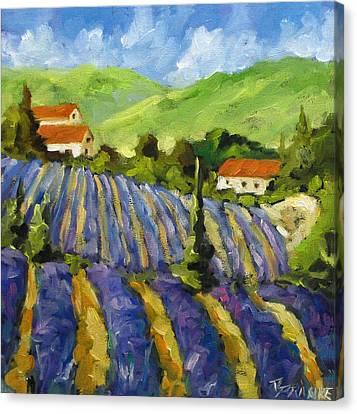 Lavender Scene Canvas Print by Richard T Pranke