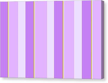 Canvas Print featuring the mixed media Lavender Stripe Pattern by Christina Rollo
