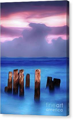 Lavender Sunrise On The Outer Banks Ap Canvas Print