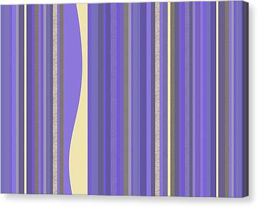 Canvas Print featuring the digital art Lavender Twilight - Stripes by Val Arie