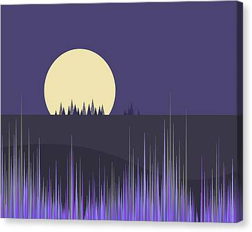 Canvas Print featuring the digital art Lavender Twilight by Val Arie