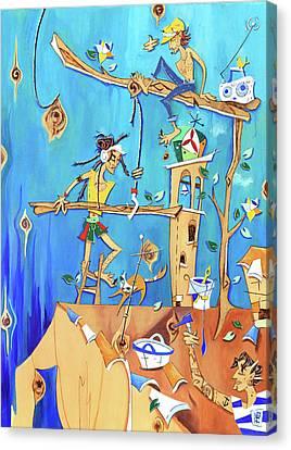 Lavori In Corso - Work In Progress Canvas Print by Arte Venezia