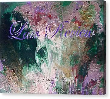 Legal Term Canvas Print - Law Review by Laura Pierre-Louis