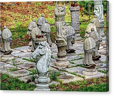 Lawn Chess Canvas Print