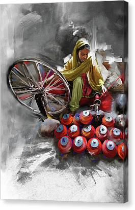 Punjab Canvas Print - Layalpur Woman 191 3 by Mawra Tahreem