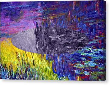 Layered 17 Monet Canvas Print