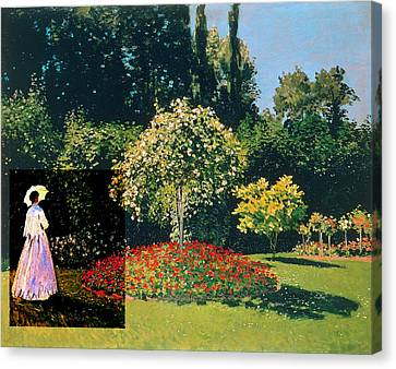 Layered 20 Monet Canvas Print
