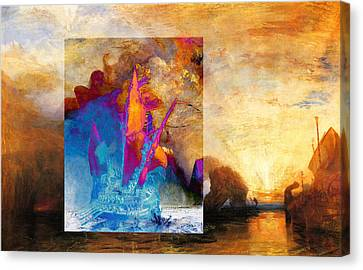 Layered 6 Turner Canvas Print