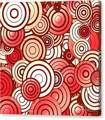 Layered Random Circles Canvas Print by Gaspar Avila