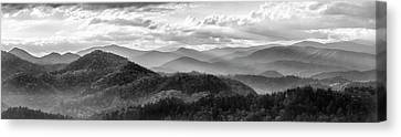Decorating Canvas Print - Layers In The Smokies by Jon Glaser
