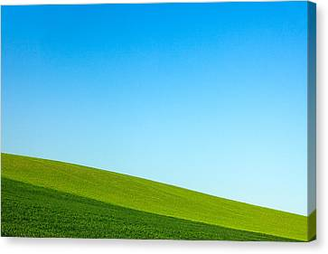 Layers Of Green And Blue Canvas Print by Todd Klassy