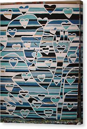 Layers Of Love Canvas Print by Becky Jenney