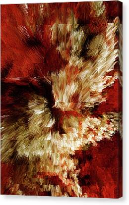 Layers Of Passion Abstract Canvas Print by Georgiana Romanovna