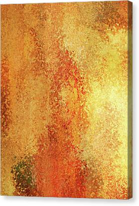 Layers Of Warmth Abstract Canvas Print