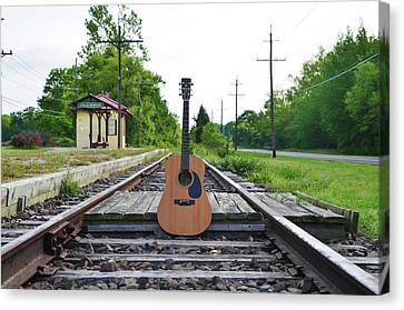 Laying Down Some Tracks Canvas Print by Bill Cannon