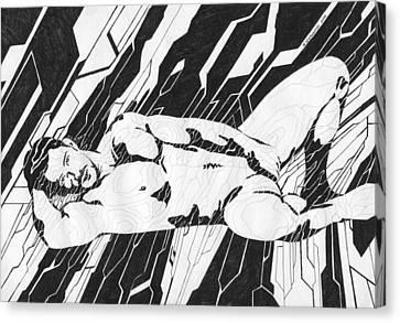Laying Man Canvas Print