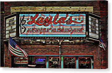 Layla's Nashville Hillbilly Music. Canvas Print by Stephen Stookey