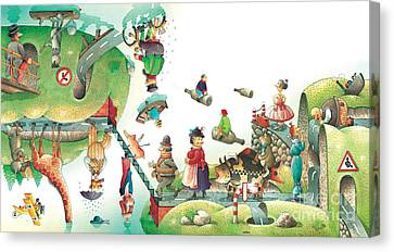 Lazinessland06 Canvas Print by Kestutis Kasparavicius