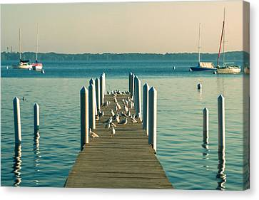 Lazy Afternoon Pier Canvas Print by Todd Klassy