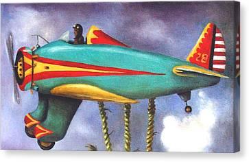 Lazy Bird Plane Detail Canvas Print by Leah Saulnier The Painting Maniac
