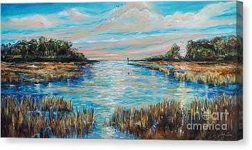 Lazy Coastal River II Canvas Print