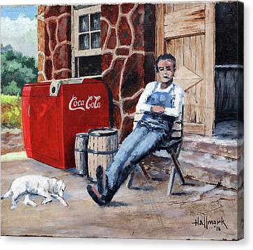 Lazy Day In Snuff Town Canvas Print by Bob Hallmark