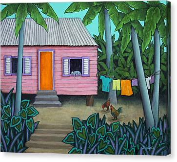 Lazy Day In The Caribbean Canvas Print by Lorraine Klotz