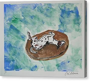 Greyhound Canvas Print - Lazy Days by Cori Solomon