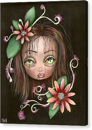 Lazy Eye Canvas Print by  Abril Andrade Griffith