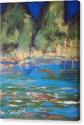 Lazy Lake Canvas Print