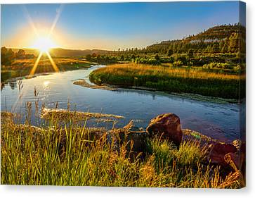 Lazy River Canvas Print by Cole Pattschull