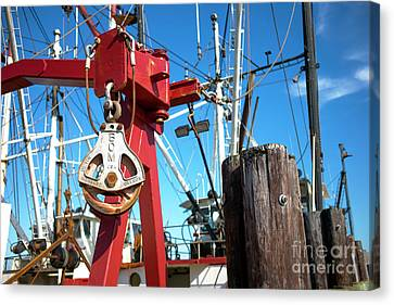 Canvas Print featuring the photograph Lbi Boat Chain by John Rizzuto