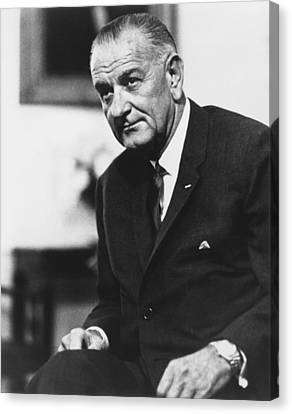 Lbj  Canvas Print by War Is Hell Store