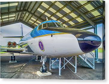 Lbj's Jet Canvas Print by Craig David Morrison