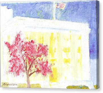 Lds Church Headquarters 2 Canvas Print by Richard W Linford