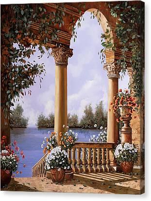 Le Arcate Chiuse Sul Lago Canvas Print by Guido Borelli