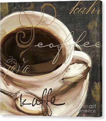 Le Cafe Dark Canvas Print by Mindy Sommers