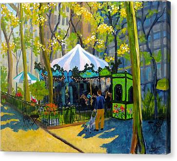 Le Carrousel In Bryant Park Canvas Print