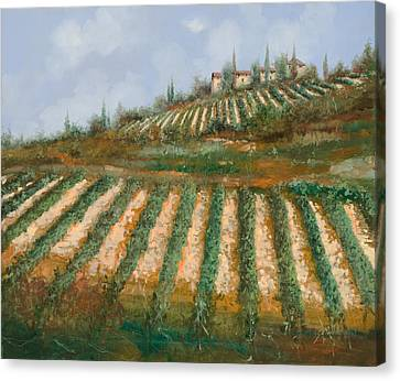 Le Case Nella Vigna Canvas Print by Guido Borelli